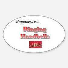 Happiness Is... Sticker (Oval)