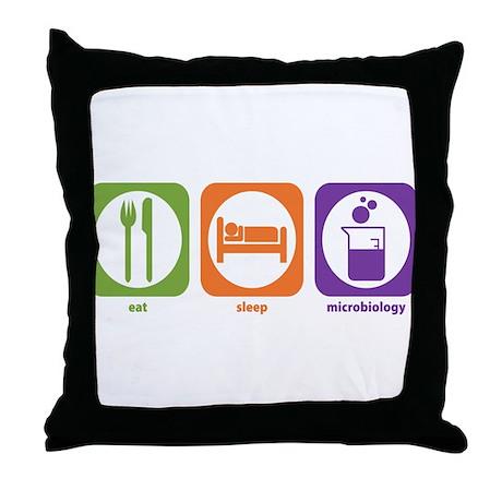 Eat Sleep Microbiology Throw Pillow