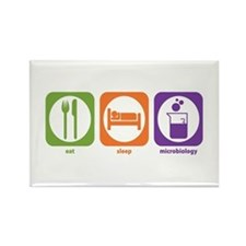 Eat Sleep Microbiology Rectangle Magnet