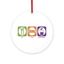 Eat Sleep Microbiology Ornament (Round)