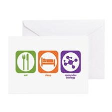 Eat Sleep Molecular Greeting Cards (Pk of 10)