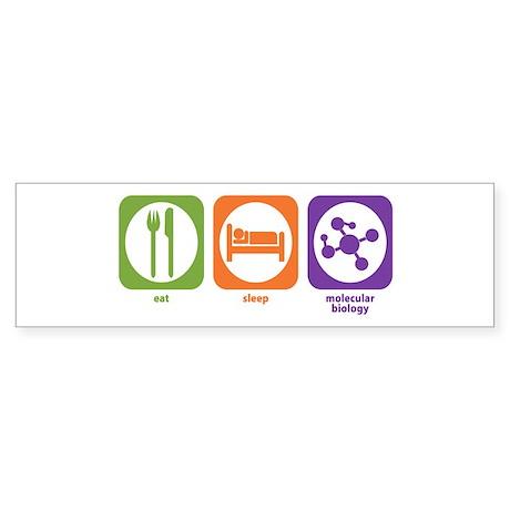 Eat Sleep Molecular Bumper Sticker
