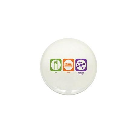 Eat Sleep Molecular Mini Button