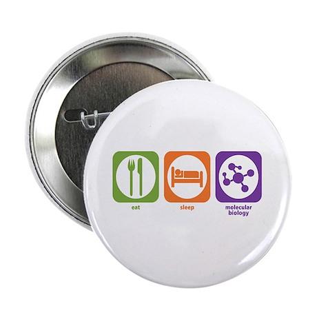 """Eat Sleep Molecular 2.25"""" Button (100 pack)"""