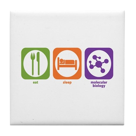 Eat Sleep Molecular Tile Coaster