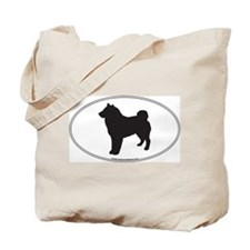 Shiba Inu Silhouette Tote Bag