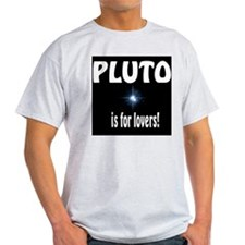 Pluto is for lovers Ash Grey T-Shirt