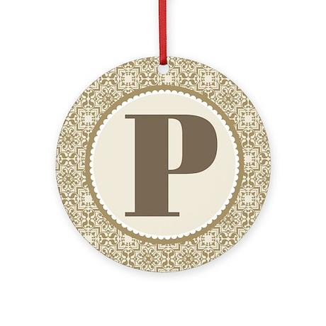 Monogram Letter P Ornament (Round)