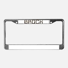 Brock Circuit License Plate Frame