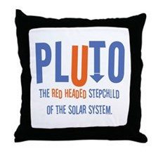Pluto Red Headed Stepchild Throw Pillow