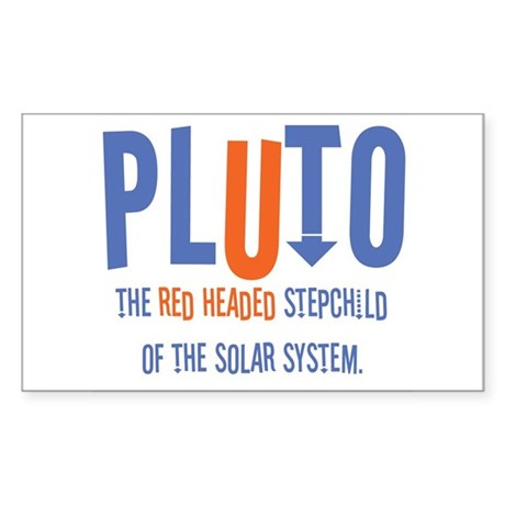 Pluto Red Headed Stepchild Rectangle Sticker
