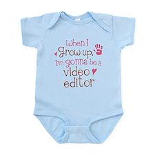 Kids Future Video Editor Infant Bodysuit