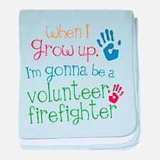 Future Volunteer Firefighter baby blanket