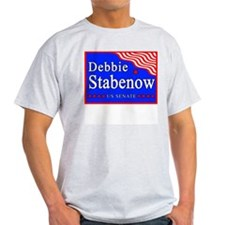 Michigan Debbie Stabenow US Senate Ash Grey T-Shir