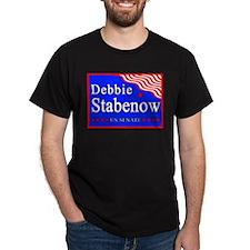 Michigan Debbie Stabenow US Senate Black T-Shirt