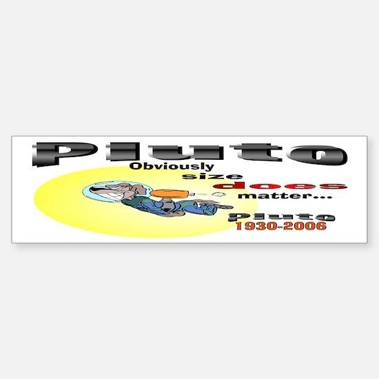 Pluto 1930-2006 Bumper Bumper Bumper Sticker