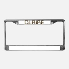 Claire Circuit License Plate Frame