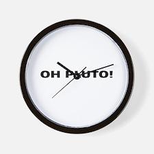 Oh Pluto! Wall Clock