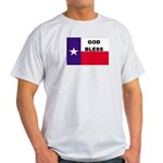 God Bless Texas Ash Grey T-Shirt