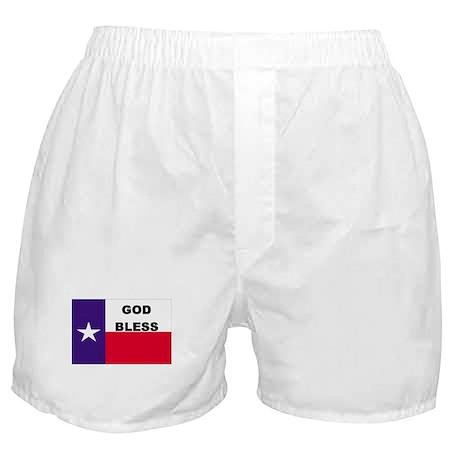 God Bless Texas Boxer Shorts