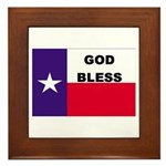 God Bless Texas Framed Tile