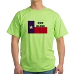 God Bless Texas Green T-Shirt