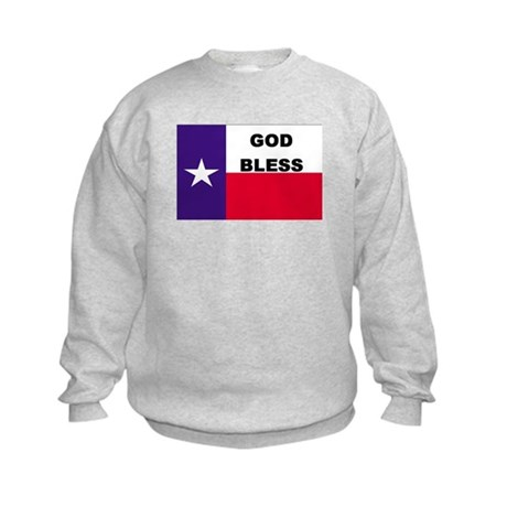 God Bless Texas Kids Sweatshirt
