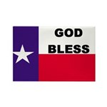 God Bless Texas Rectangle Magnet (10 pack)