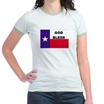 God Bless Texas Jr. Ringer T-Shirt