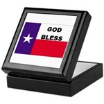 God Bless Texas Keepsake Box