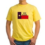 God Bless Texas Yellow T-Shirt