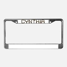 Cynthia Circuit License Plate Frame
