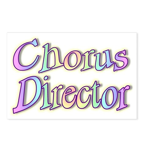 """Chorus Director Rainbow"" Postcards (Package of 8)"