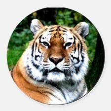 MAJESTIC TIGER Round Car Magnet