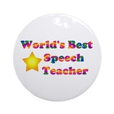 Speech Teacher Ornament (Round)