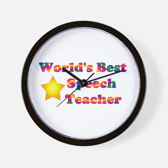 Speech Teacher Wall Clock