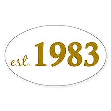Est 1983 (Born in 1983) Decal