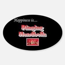 Happiness Is... Black Oval Decal