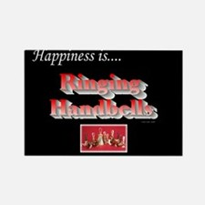 Happiness Is... Black Rectangle Magnet (10 pack)