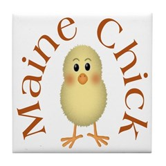 Maine Chick Tile Coaster