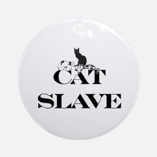 Cat Slave Ornament (Round)