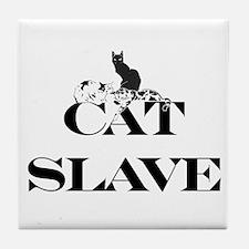 Cat Slave Tile Coaster