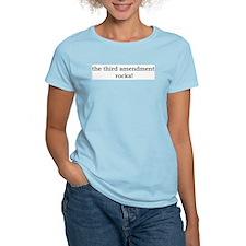 The 3rd Amendment Rocks Women's Pink T-Shirt