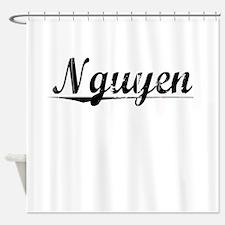 Nguyen, Vintage Shower Curtain