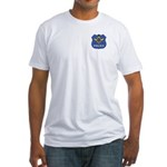 Masonic Police Shield Fitted T-Shirt