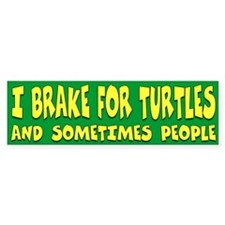I Brake For Turtles Bumper Stickers