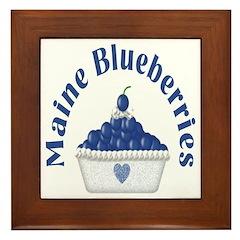 Blueberry Delight Framed Tile