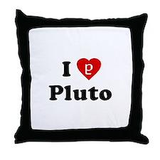 I Heart Pluto Throw Pillow