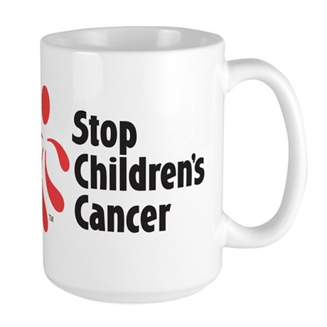 Stop Children's Cancer Logo Large Mug