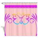 Colorful Butterfly Design Shower Curtain